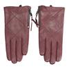 Vínové kožené rukavice se zipem bata, červená, 904-5108 - 26