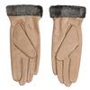 Dámské kožené rukavice béžové bata, béžová, 904-4112 - 16