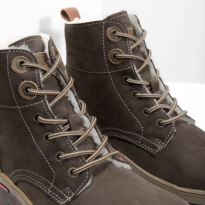 Kožená dámská zimní obuv weinbrenner, hnědá, 596-4666 - 14