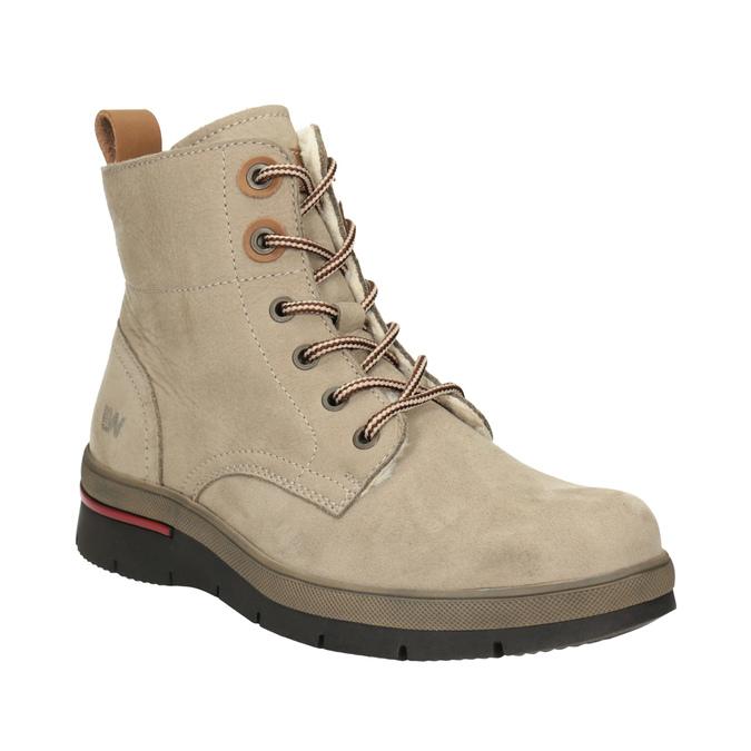 Dámská kotníčková zimní obuv weinbrenner, hnědá, 596-3666 - 13