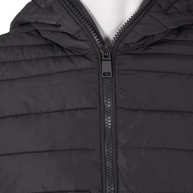 Pánská prošívaná bunda s kapucí bata, šedá, 979-2130 - 16