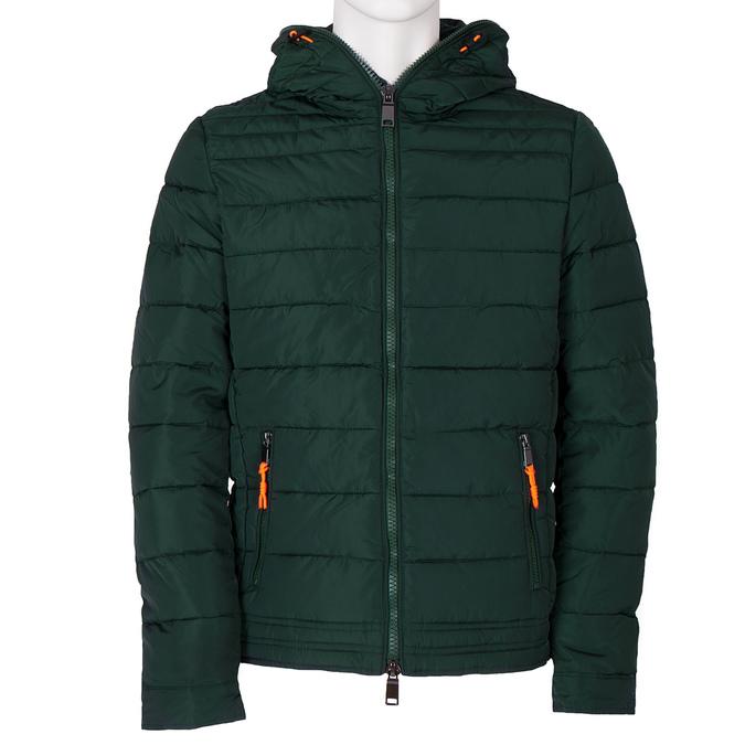 Zelená pánská bunda s kapucí bata, zelená, 979-7130 - 13