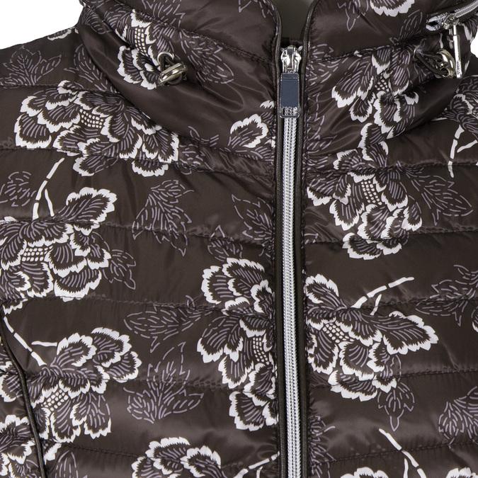 Dámská zimní bunda s květy bata, hnědá, 979-4128 - 16