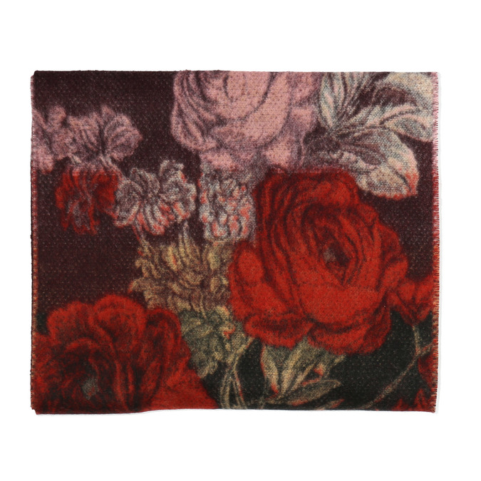 Dámská šála s květinovým vzorem bata, červená, 909-5644 - 26
