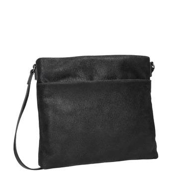 Kožená dámská Crossbody kabelka bata, černá, 963-6192 - 13