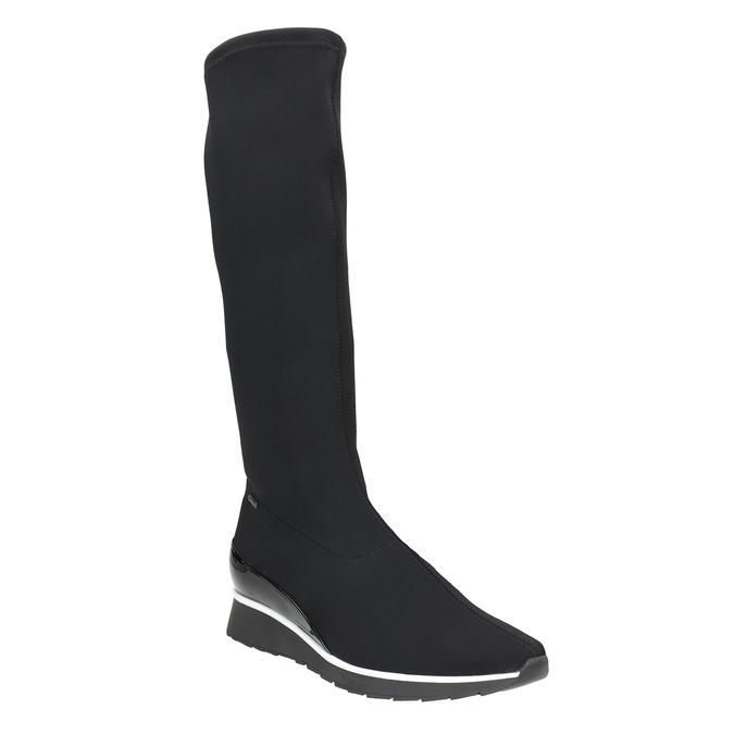 Dámské textilní kozačky hogl, černá, 699-6032 - 13
