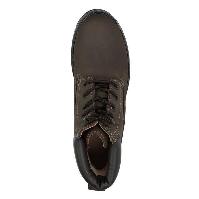 Kožená kotníčková obuv pánská weinbrenner, hnědá, 896-4656 - 15