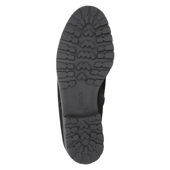 Kožená kotníčková obuv s kožíškem gabor, černá, 616-6009 - 17