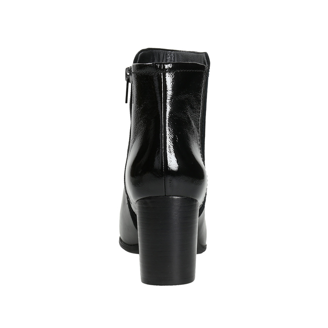 Kotníčkové kozačky na stabilním podpatku rockport, černá, 714-6055 - 17