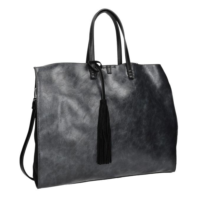 Dámská kabelka se střapcem bata, modrá, černá, 961-9200 - 13