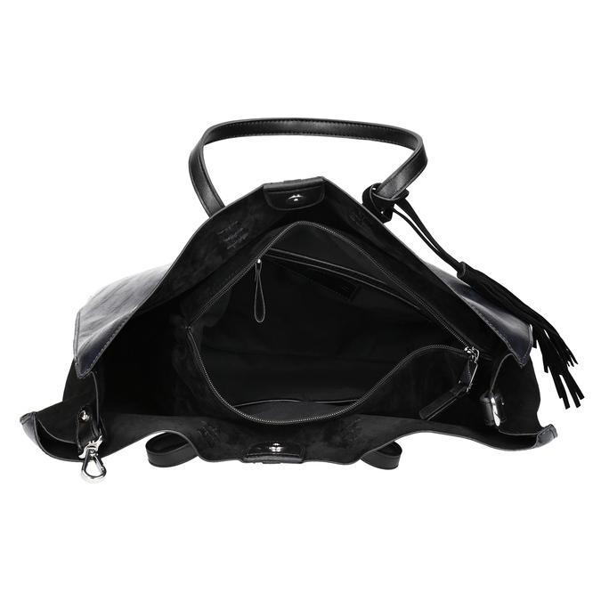 Dámská kabelka se střapcem bata, modrá, černá, 961-9200 - 15