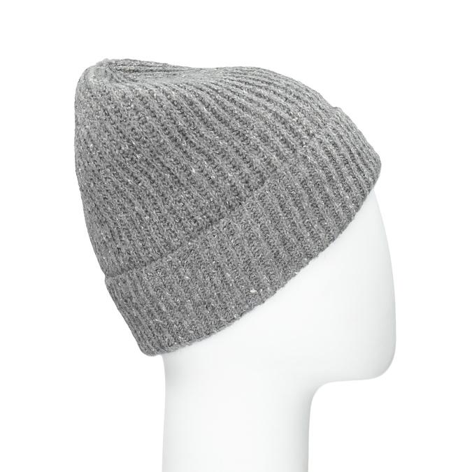Pletená čepice s lemem bata, vícebarevné, 909-0677 - 15
