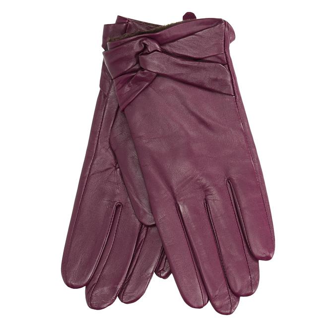 Dámské kožené rukavice bata, fialová, 904-0109 - 13