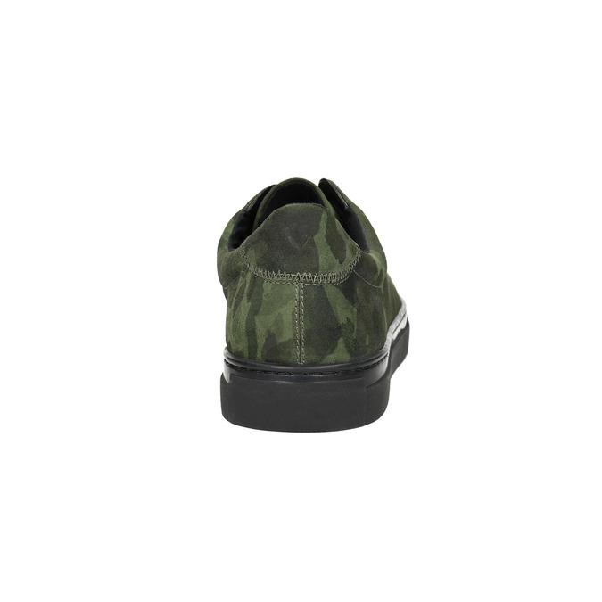 Kožené pánské tenisky vagabond, zelená, 823-7046 - 17
