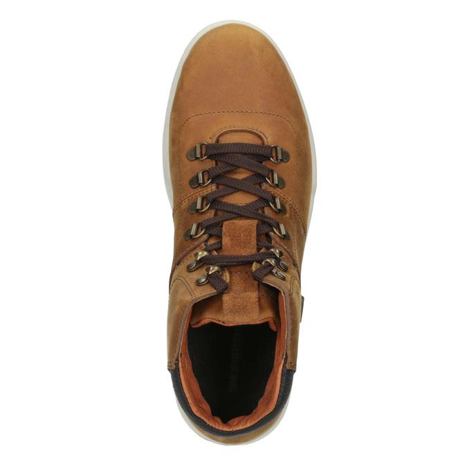 Kožená pánská kotníčková obuv weinbrenner, hnědá, 896-3701 - 15