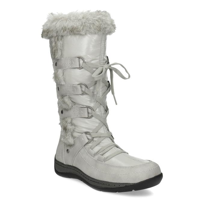 Zimní sněhule s kožíškem bata, šedá, 599-8618 - 13