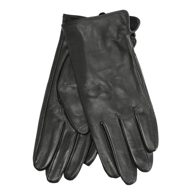 Dámské kožené rukavice bata, černá, 904-6129 - 13