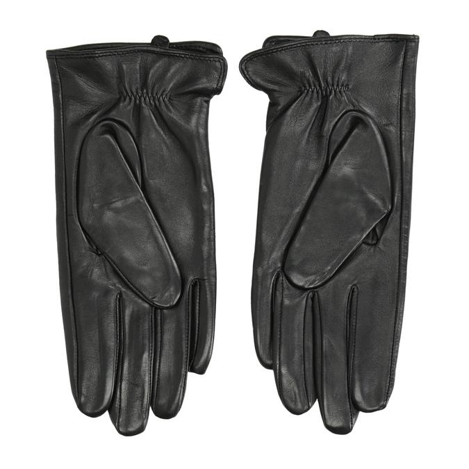 Dámské kožené rukavice bata, černá, 904-6129 - 16