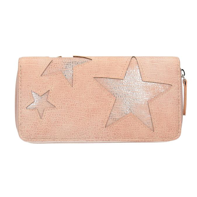Růžová peněženka s hvězdami bata, růžová, 941-5154 - 26