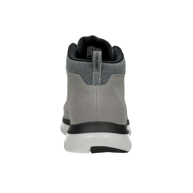 Kožená kotníčková obuv pánská skechers, černá, 806-6327 - 15