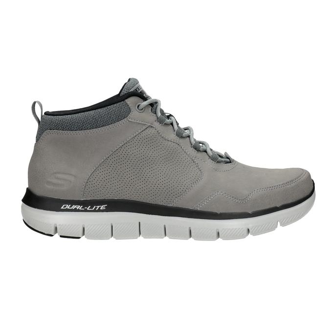 Kožená kotníčková obuv pánská skechers, černá, 806-6327 - 16