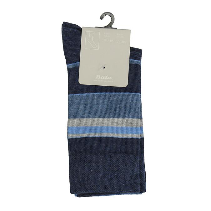 Pánské pruhované ponožky bata, 919-9641 - 13