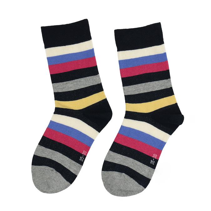 Pruhované ponožky bata, šedá, 919-2660 - 26