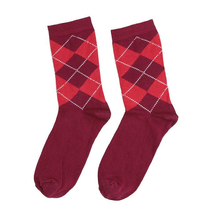 Dámské ponožky s anglickým vzorem bata, červená, 919-5301 - 26
