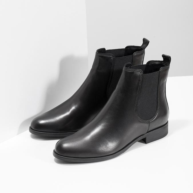 Dámské kožené Chelsea Boots bata, černá, 594-6661 - 26