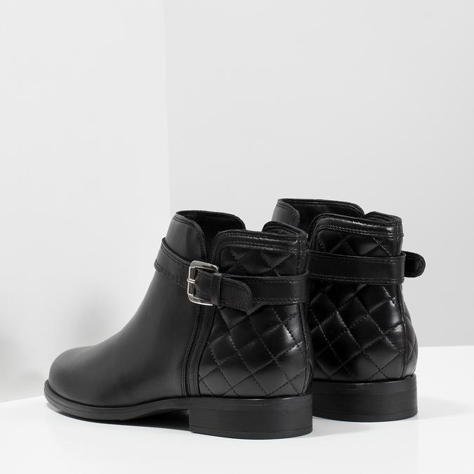 Kožená kotníčková obuv s přezkou bata, černá, 594-6662 - 16