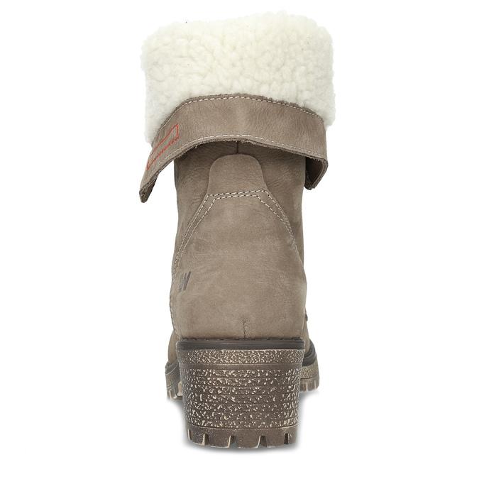 Kožená dámská zimní obuv weinbrenner, hnědá, 696-4336 - 15