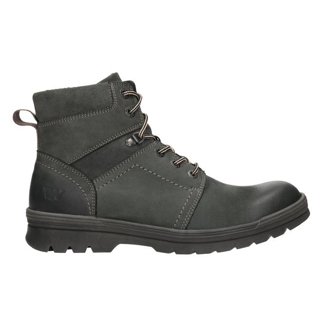 Kožená kotníčková obuv weinbrenner, šedá, 896-2703 - 26