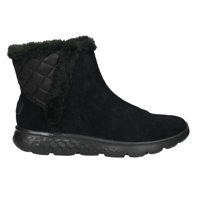 Dámská obuv z broušené kůže skechers, černá, 503-6326 - 16