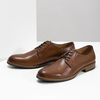 Pánské kožené polobotky na silnější podešvi bata, hnědá, 826-3809 - 16