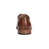 Pánské kožené polobotky na silnější podešvi bata, hnědá, 826-3809 - 15