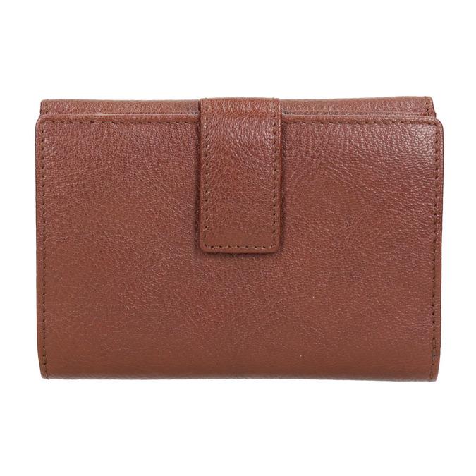 Dámská kožená peněženka bata, hnědá, 944-4189 - 16