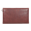 Kožené psaníčko s prošitím bata, červená, 966-5285 - 16