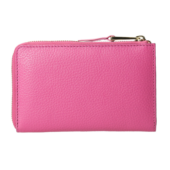 Růžová kožená peněženka bata, růžová, 946-5284 - 16