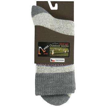 Pánské ponožky z přírodní vlny matex, šedá, 919-2390 - 13