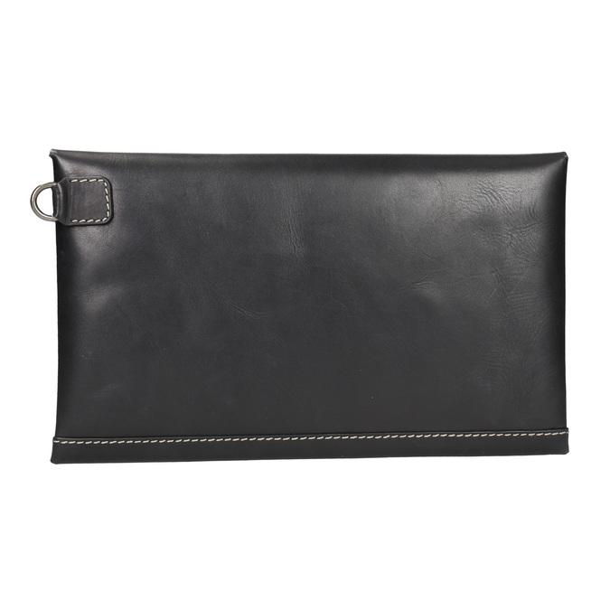 Černé kožené psaníčko bata, černá, 966-6285 - 16