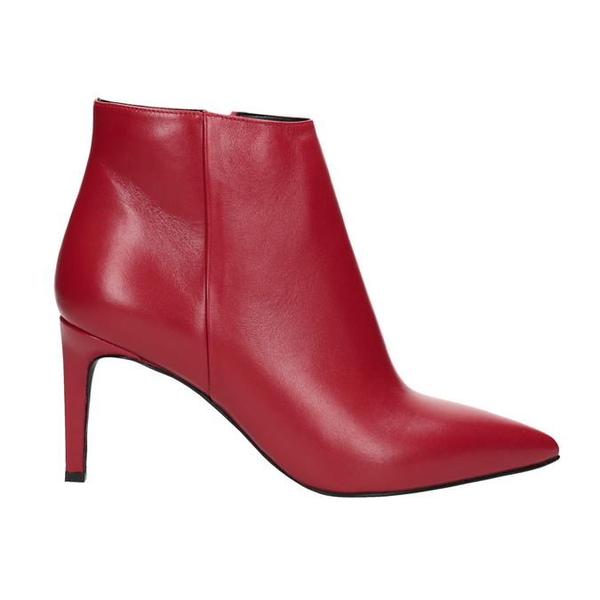 Kožené kotníčkové kozačky červené bata, červená, 794-5651 - 16