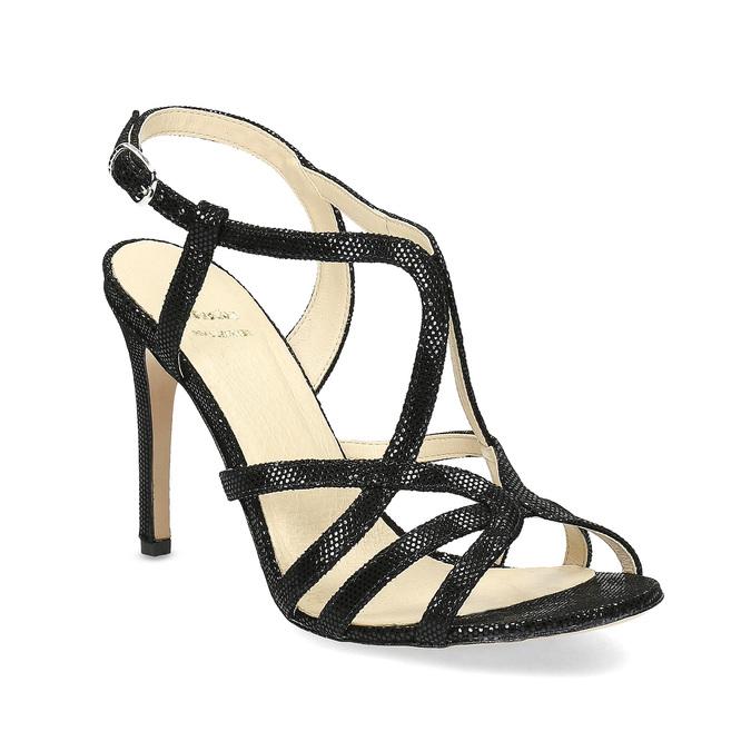 Dámské společenské sandály bata, černá, 726-6648 - 13