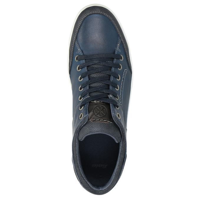 Modré kožené tenisky bata, modrá, 846-9927 - 15