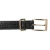 Černý dámský opasek se zlatou sponou bata, černá, 951-6602 - 26