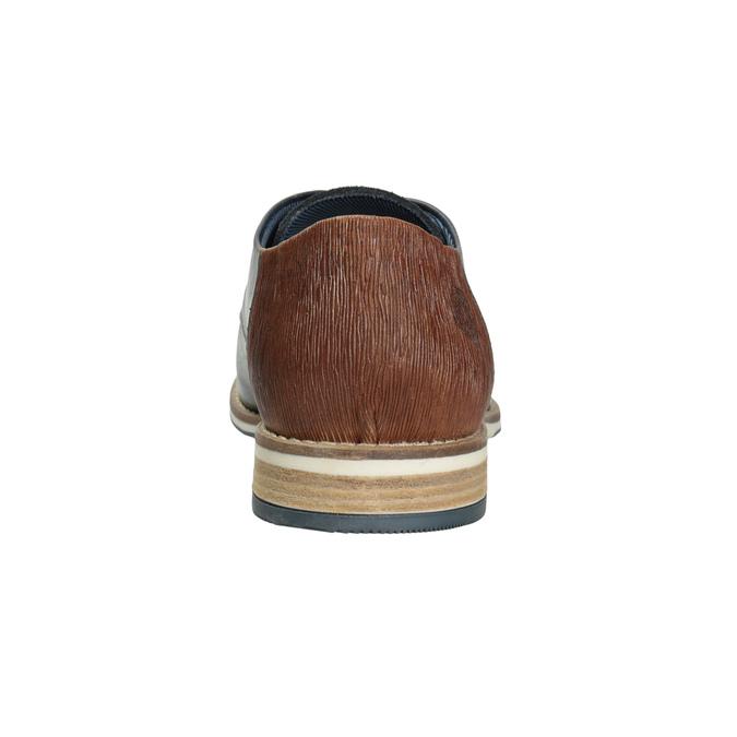 Pánské kožené Derby polobotky bata, modrá, 826-9924 - 16