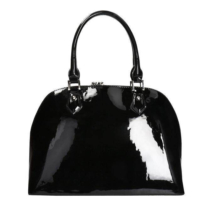 Černá lakovaná kabelka bata, černá, 961-6849 - 26