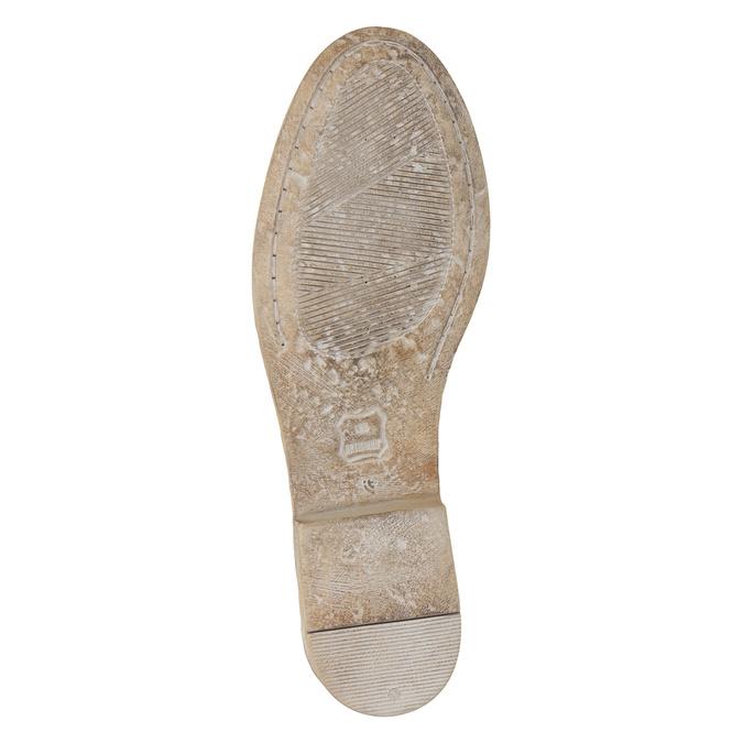 Kotníčkové kožené kozačky s výšivkou bata, hnědá, 596-4686 - 19