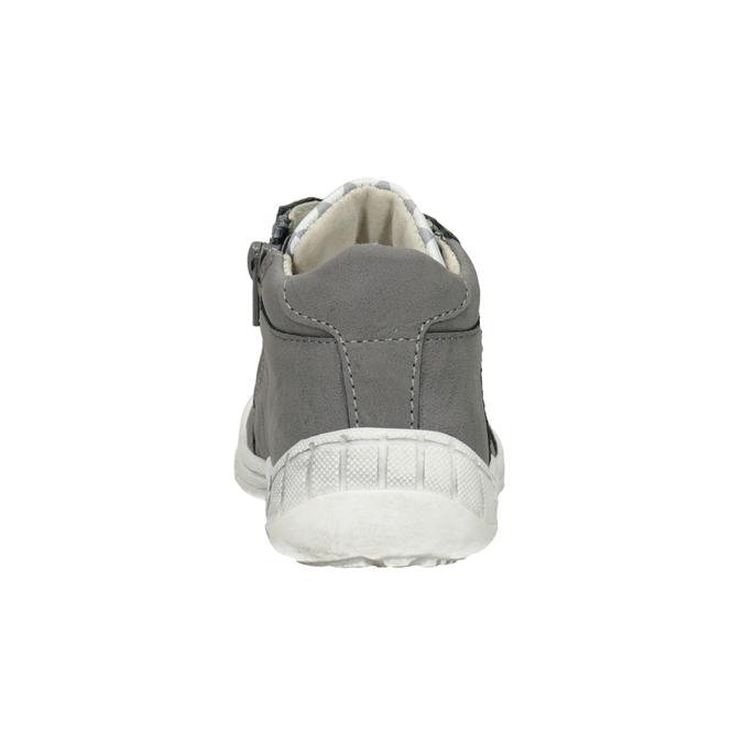 Dětská kotníčková obuv bubblegummers, šedá, 111-2626 - 16
