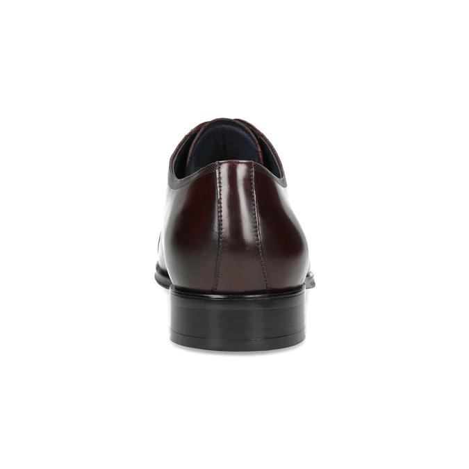 Vínové kožené polobotky bata, červená, 826-5851 - 15