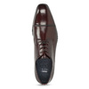 Vínové kožené polobotky bata, červená, 826-5851 - 17